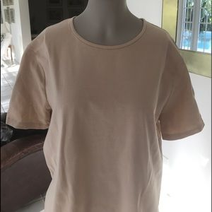 St. John Sport Essential Top Tan size Large